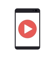 Isolated play inside smartphone design vector