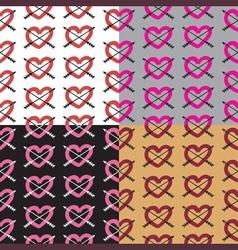 Love set seamless pattern romantic elements vector