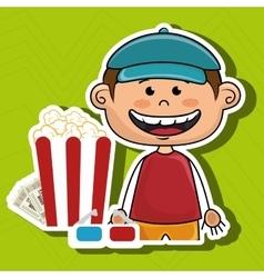Man movie video theater vector