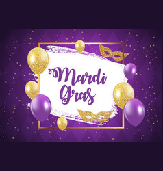 Mardi gras brochure templatecelebration greeting vector