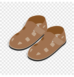 mens sandals isometric icon vector image vector image