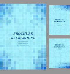 Modern square pattern brochure background set vector