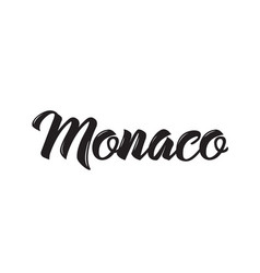 Monaco text design calligraphy vector
