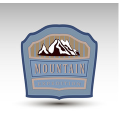 mountain expedition logo vector image