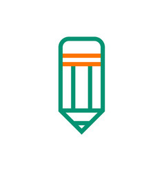 pencil icon on white background vector image vector image