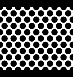 Polka dot seamless pattern black background vector