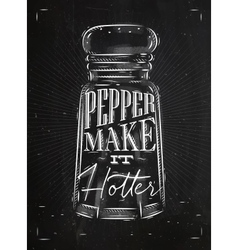 Poster pepper castor chalk vector
