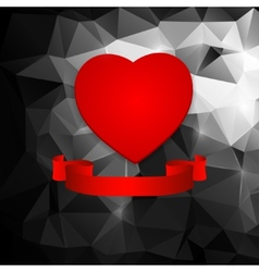 red heart on an abstract background vector image vector image
