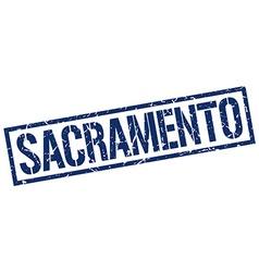 Sacramento blue square stamp vector image vector image