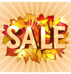 Sale word vector image
