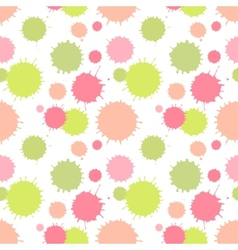 Seamless pattern with painted splash texture vector image vector image