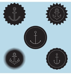 Set of anchor logo vector image