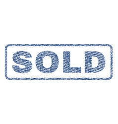 Sold textile stamp vector