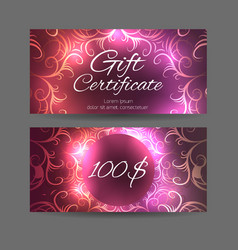 template gift certificate for yoga studio spa vector image vector image