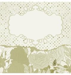 Vintage rose flowers card vector image