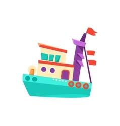 Marine military toy boat vector