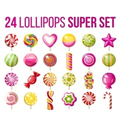lollipops icons set vector image
