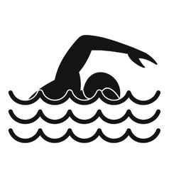 Swimmer icon simple style vector