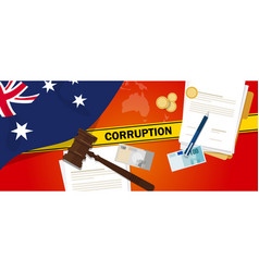 australia corruption money bribery financial law vector image