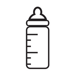 Baby bottle icon isolated on white background vector