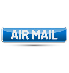 air mail - abstract beautiful button with text vector image