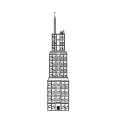 Building skyscraper commercial antenna image vector
