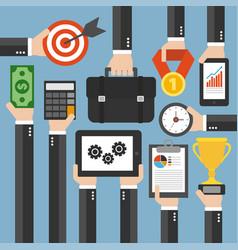 modern management flat design vector image