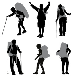 Backpacker vector