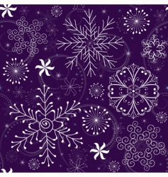 Christmas seamless violet pattern vector image