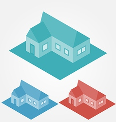 simple isometric abstract houses vector image