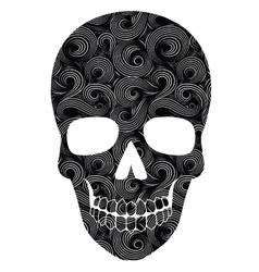 Skull Line Art Pattern vector image
