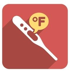 Fahrenheit Temperature Flat Rounded Square Icon vector image