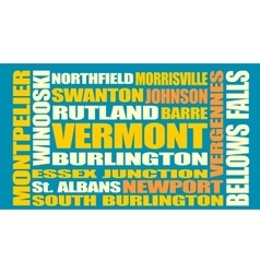 Vermont state cities list vector