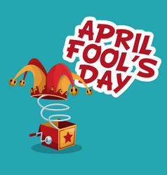 april fools day stylish text vector image
