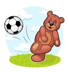 Bear Footballer vector image vector image
