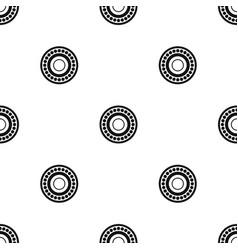 bearing pattern seamless black vector image
