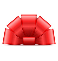 bow for gift 01 vector image vector image