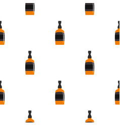 Brandy bottle pattern seamless vector