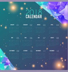 Calendar 2018 abstract design planner template vector