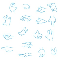 Cartoon Hands collection vector image vector image