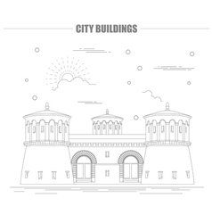City buildings graphic template Luxembourg vector image vector image
