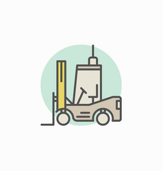 Colorful forklift icon vector