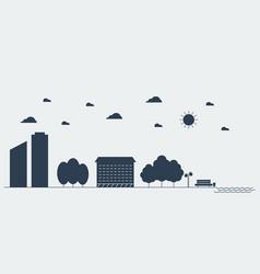 Flat silhouette concept urban landscape vector