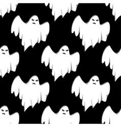 Ghost Halloween seamless pattern vector image vector image