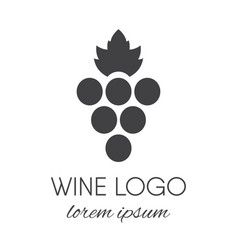 Grapes logo design element vector