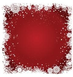 Grunge christmas snowflakes vector image vector image
