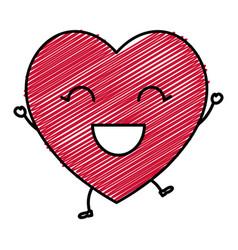 Happy heart isolated vector