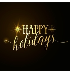 Happy Holidays glitter gold vector image vector image