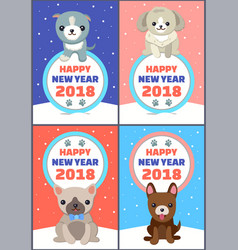 happy new year set of banners vector image vector image