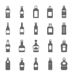 Icon set - bottle and beverage vector